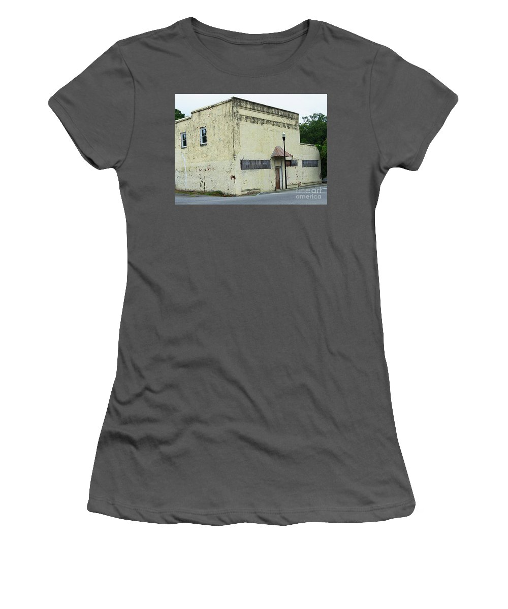 Scenic Tours Women's T-Shirt (Athletic Fit) featuring the photograph Dereliction Of Duty by Skip Willits