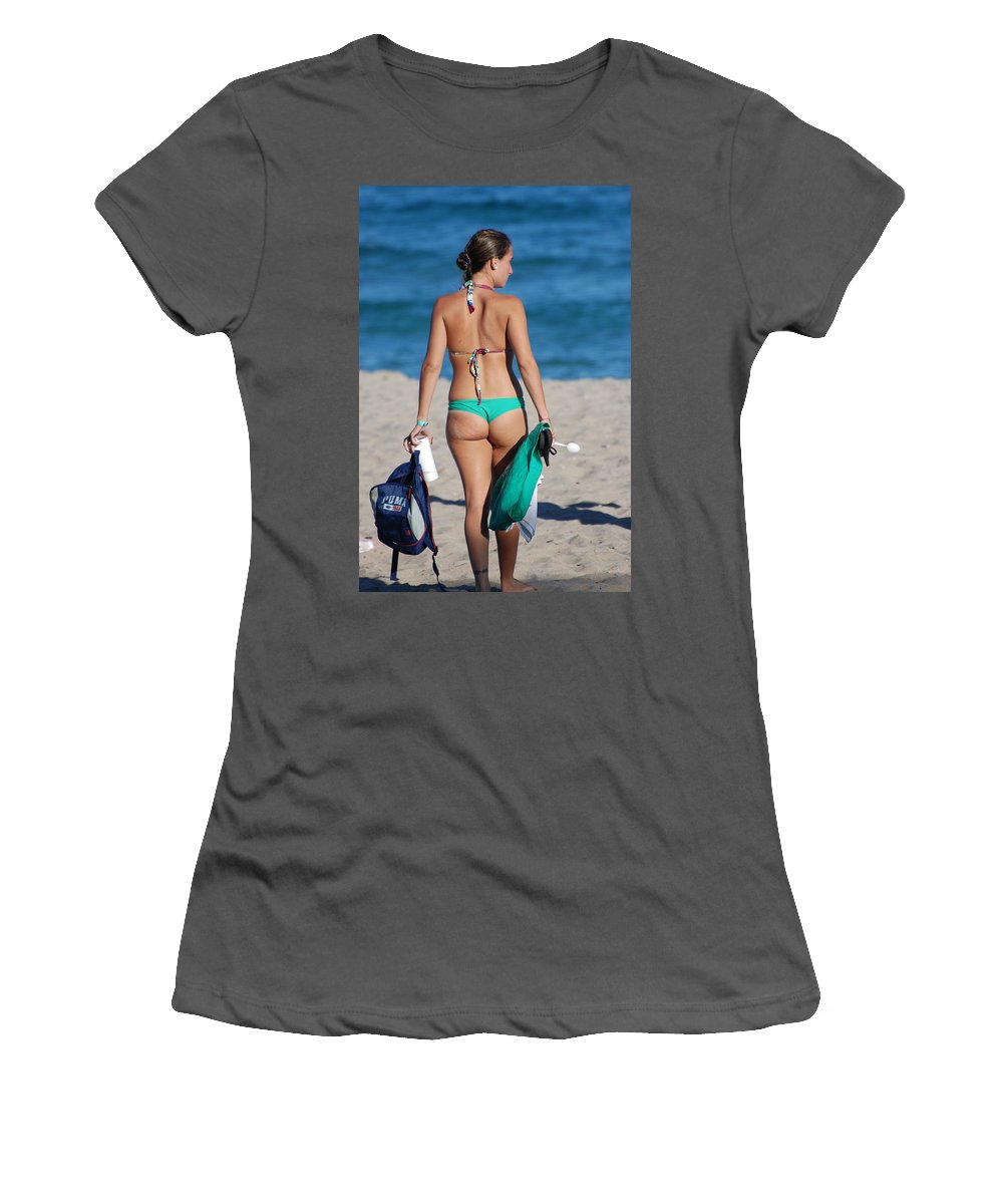 Girl Women's T-Shirt (Athletic Fit) featuring the photograph Domino by Rob Hans