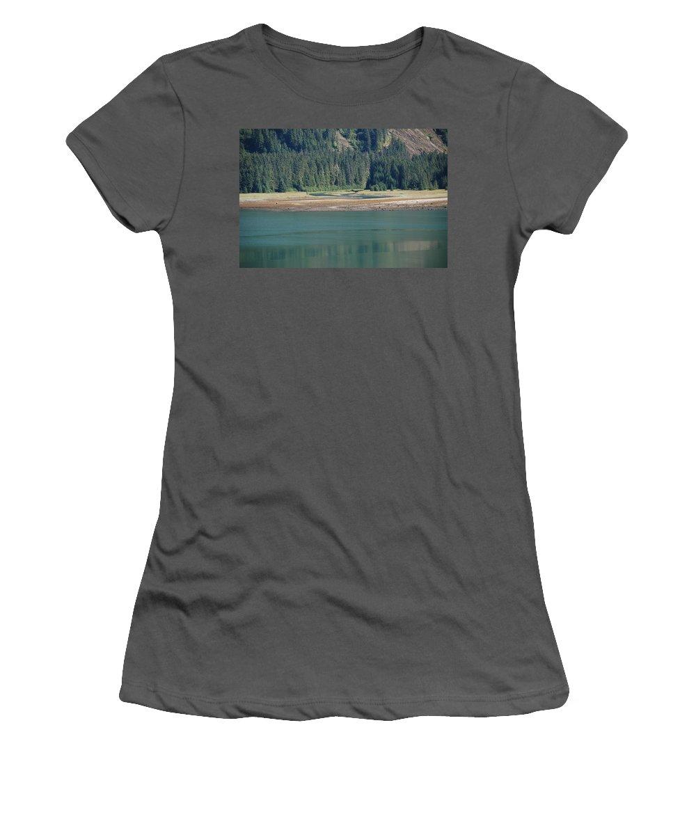 Landscape Women's T-Shirt (Athletic Fit) featuring the photograph Endicott Glacier Area by Carol Eliassen