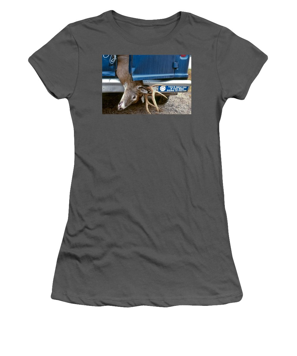 Deer Women's T-Shirt (Athletic Fit) featuring the photograph Eternal Reward by Thomas Marchessault