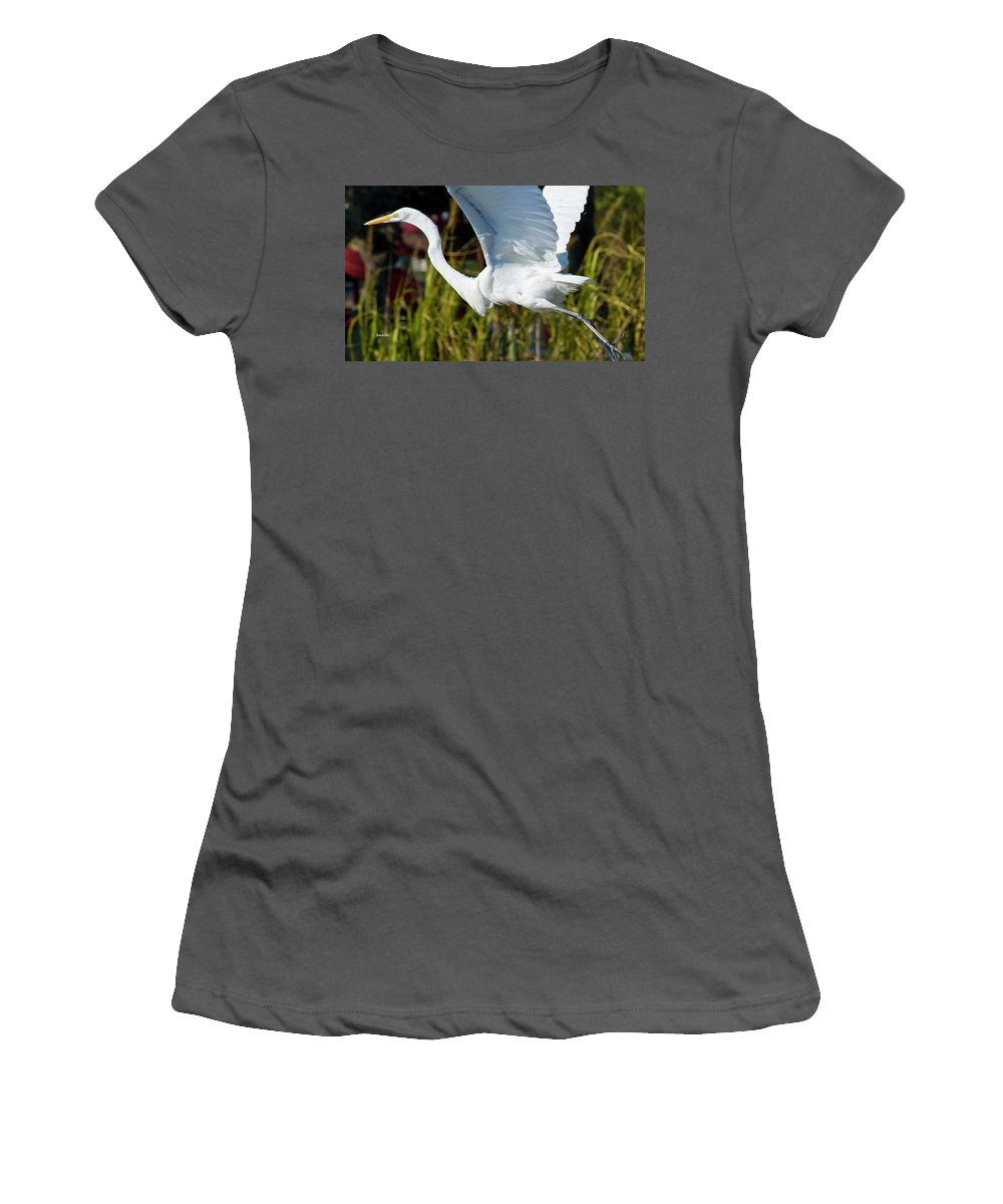 Wildlife Women's T-Shirt (Athletic Fit) featuring the photograph Flight by Betsy Knapp