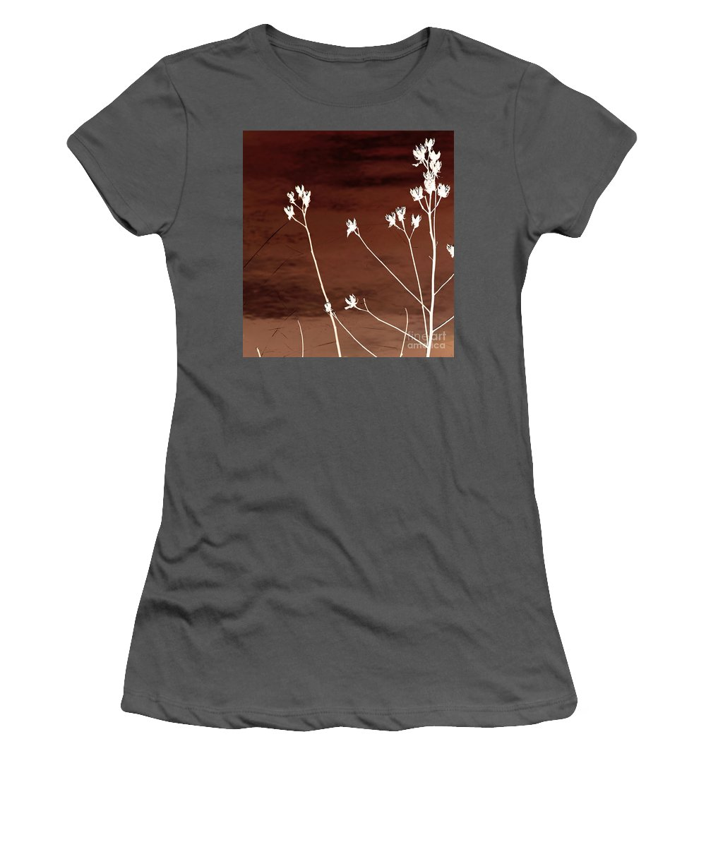 Flowers Women's T-Shirt (Athletic Fit) featuring the photograph Floral by Amanda Barcon