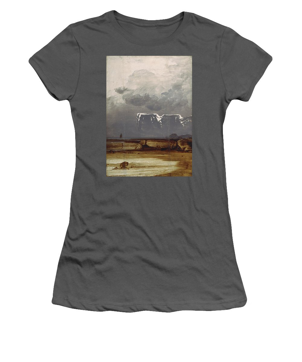 Peder Balke - From North Cape 1860s Women's T-Shirt (Athletic Fit) featuring the painting From North Cape by Peder Balke