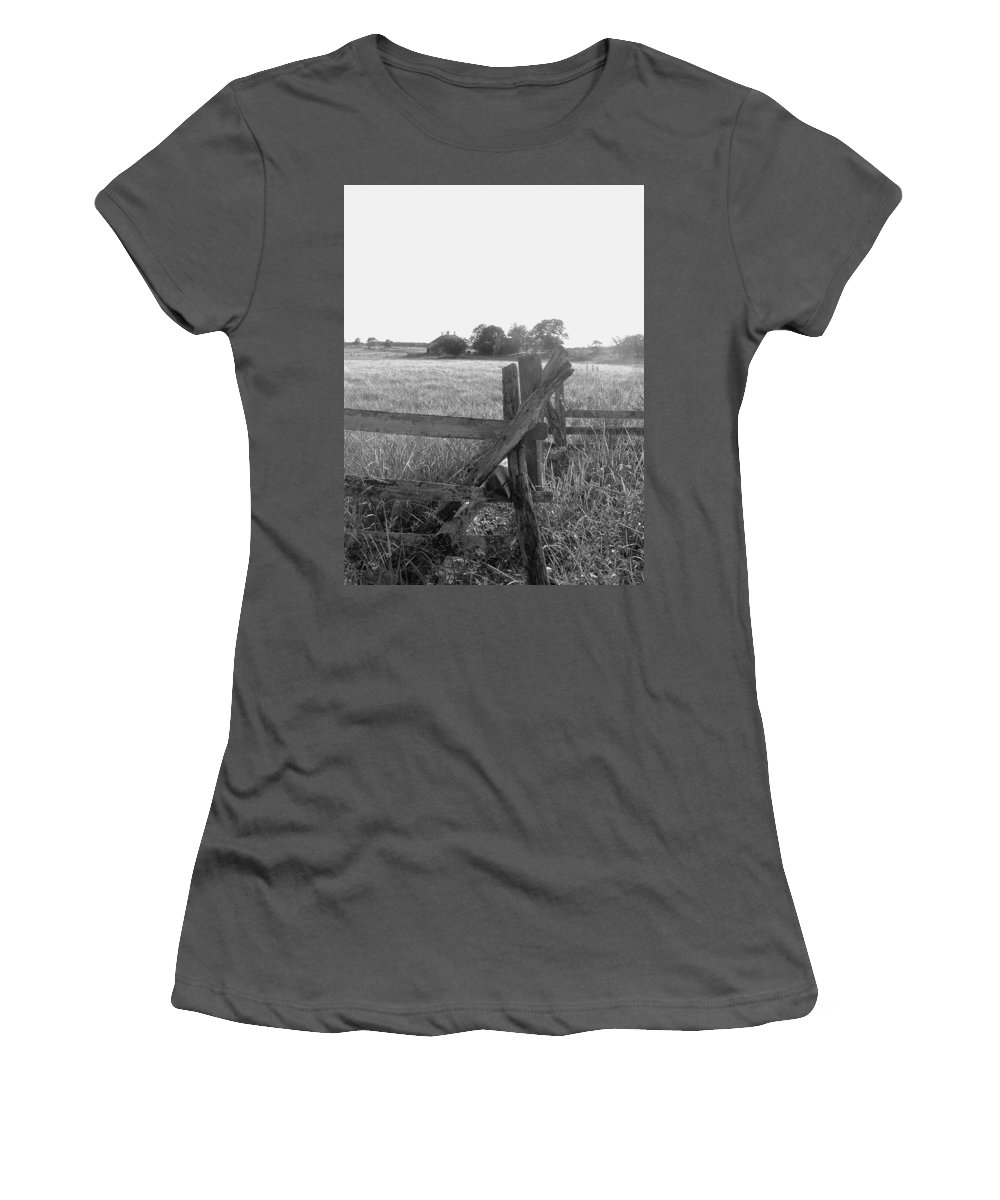 Gettysburg Women's T-Shirt (Athletic Fit) featuring the painting Gettysburg Landscape by Eric Schiabor
