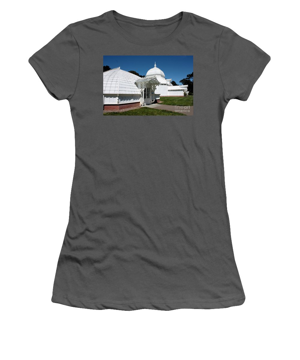 Victorian Women's T-Shirt (Athletic Fit) featuring the photograph Golden Gate Conservatory by Carol Groenen