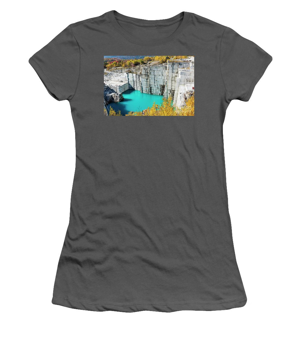 Barre Women's T-Shirt (Athletic Fit) featuring the photograph Granite Quarry by John Greim