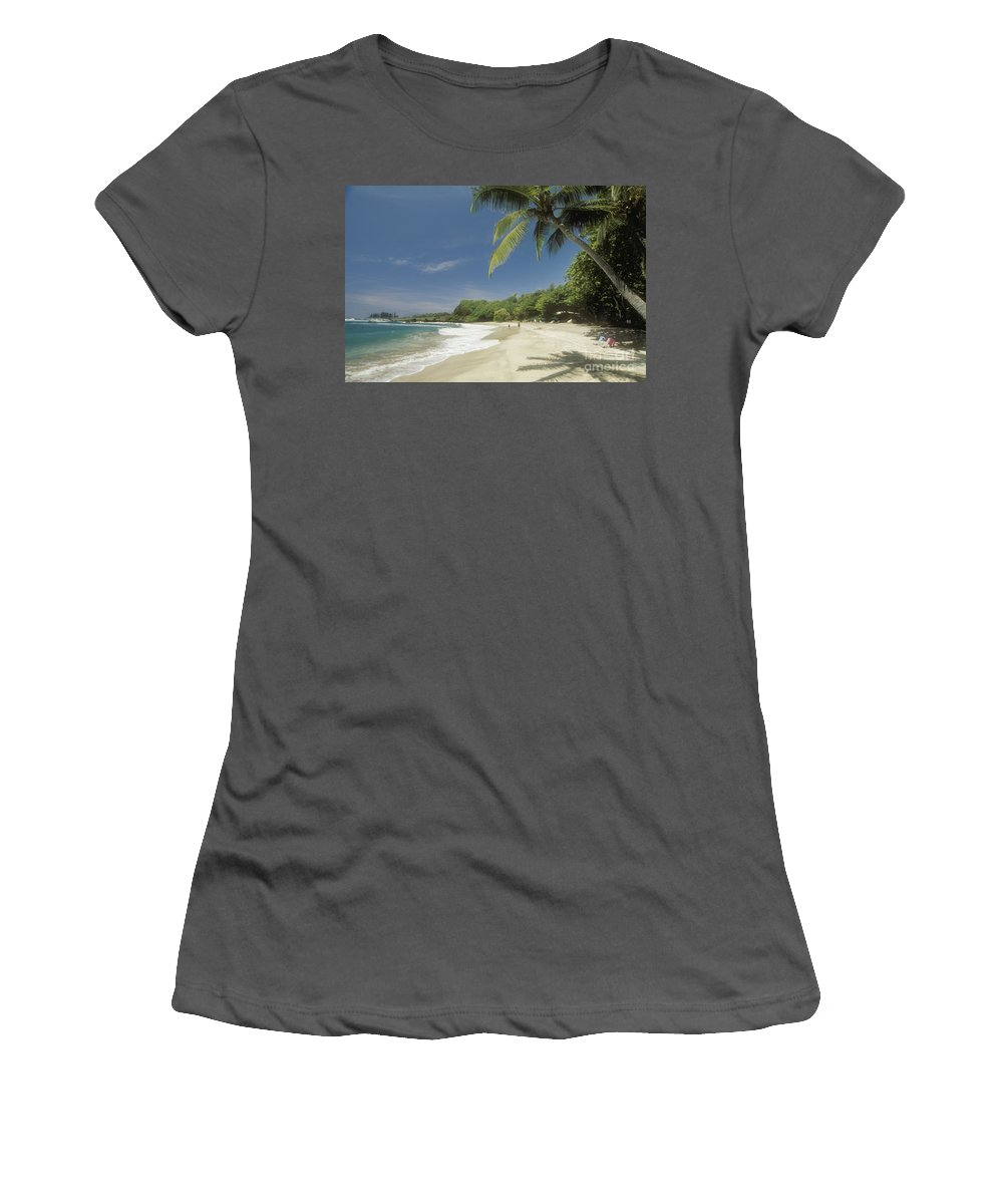 Beach Art Women's T-Shirt (Athletic Fit) featuring the photograph Hana Coast, Hamoa Beach by Greg Vaughn - Printscapes