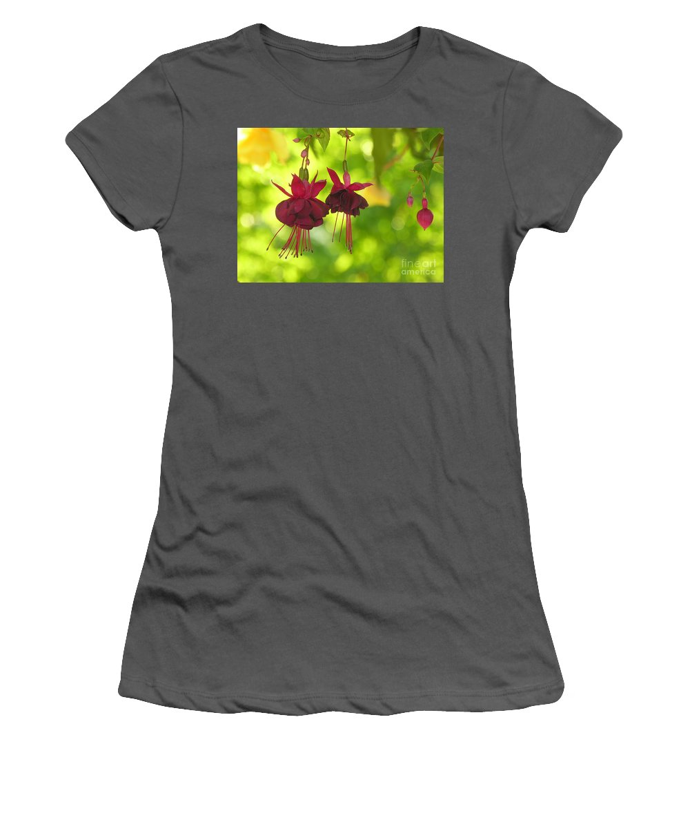 Hanging Women's T-Shirt (Athletic Fit) featuring the photograph Hanging Around by Diane Greco-Lesser