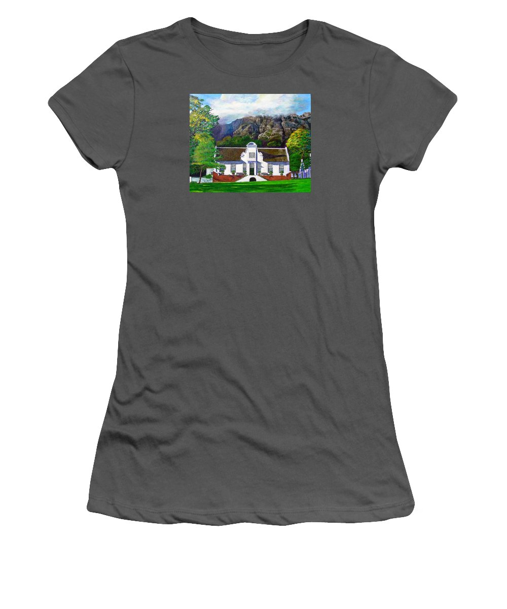 House Women's T-Shirt (Athletic Fit) featuring the painting Manor House by Michael Durst