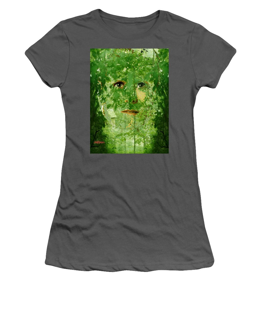 Lady Women's T-Shirt (Athletic Fit) featuring the digital art Mother Nature by Seth Weaver
