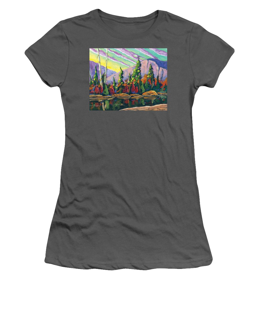 Art Women's T-Shirt (Athletic Fit) featuring the painting Nature Expression by Richard T Pranke