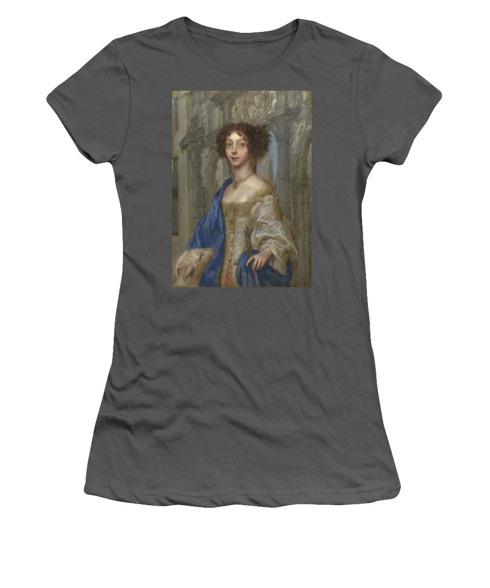 Gonzales Women's T-Shirt (Athletic Fit) featuring the digital art Portrait Of A Woman As Saint Agnes by PixBreak Art