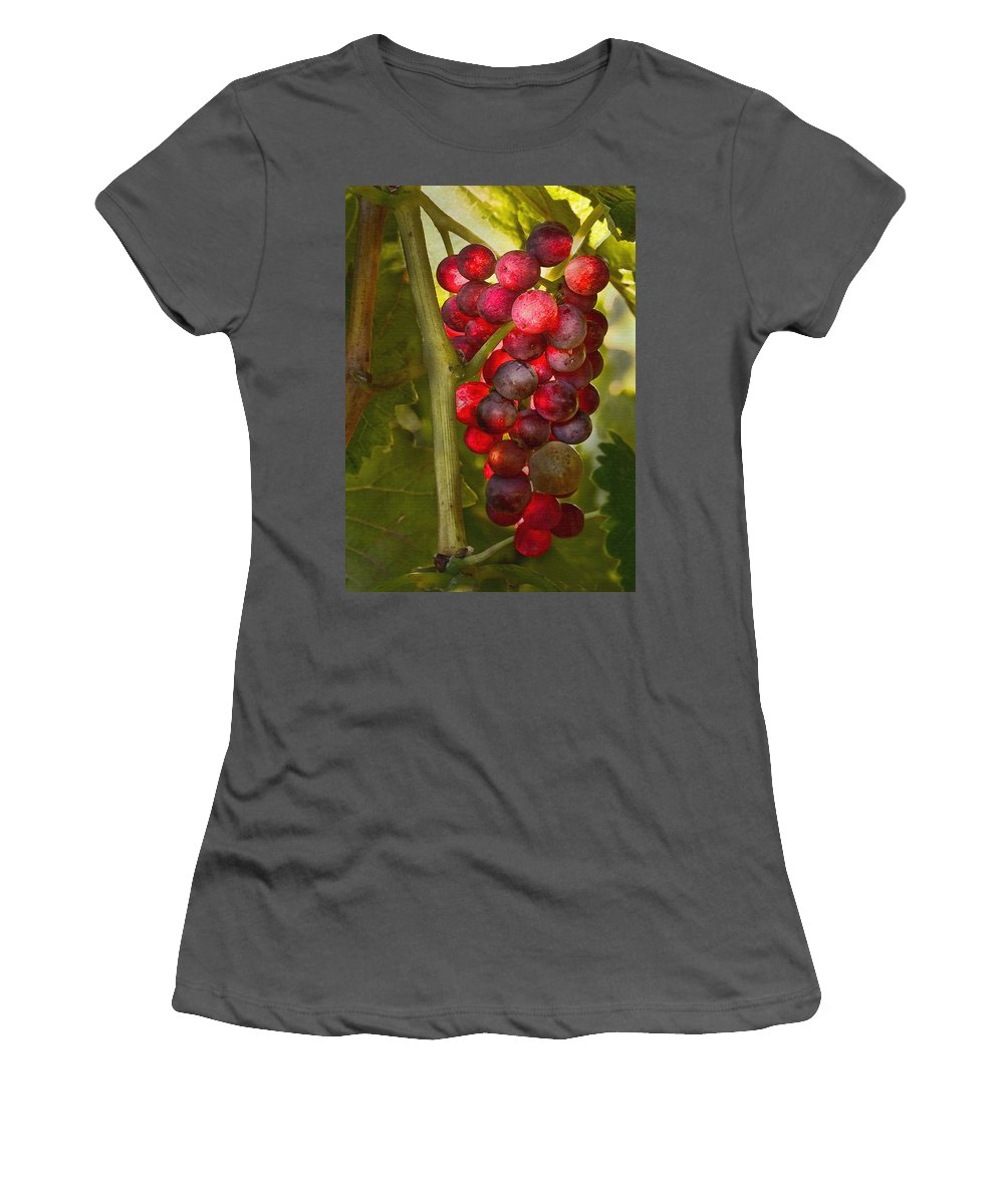 Grape Women's T-Shirt (Athletic Fit) featuring the digital art Ready For Harvest by Sharon Foster
