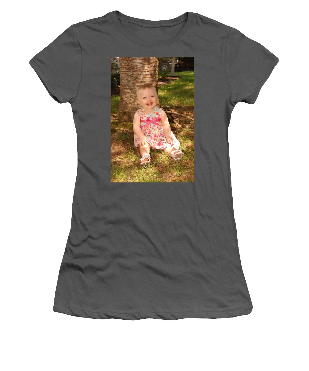 Child Women's T-Shirt (Athletic Fit) featuring the photograph Regan Graves by John Graziani