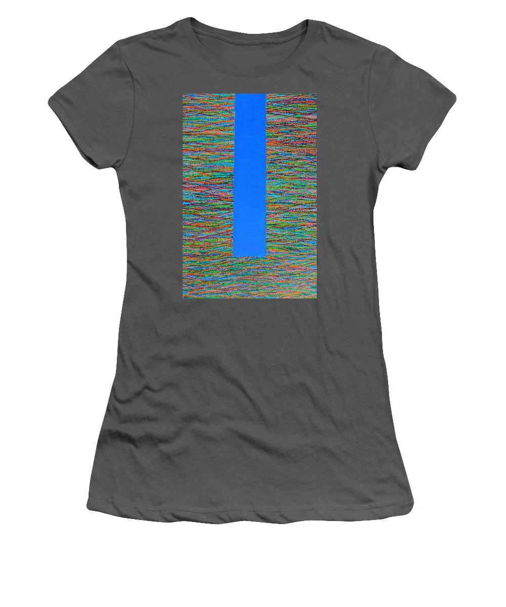 Contemporary Women's T-Shirt (Athletic Fit) featuring the painting Small Door by Kyung Hee Hogg