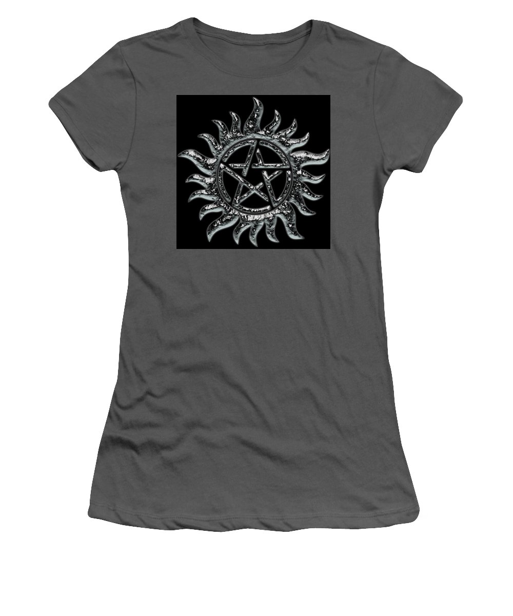 Supernatural Women's T-Shirt (Athletic Fit) featuring the painting Supernatural Ice by Vadim Pavlov