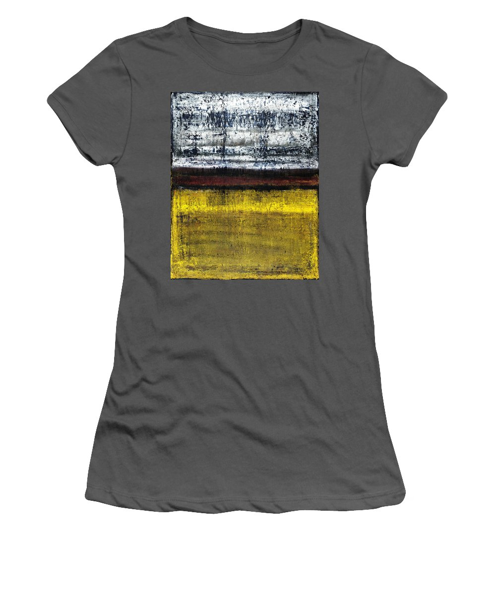 Yellow Women's T-Shirt (Athletic Fit) featuring the painting Untitled No. 18 by Julie Niemela