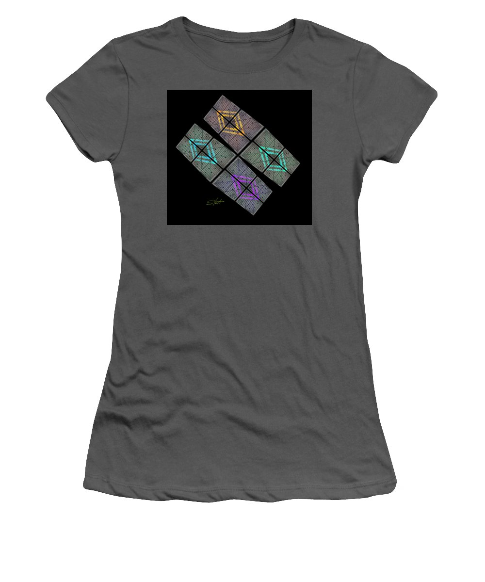 Space Women's T-Shirt (Athletic Fit) featuring the photograph Urban Space by Charles Stuart