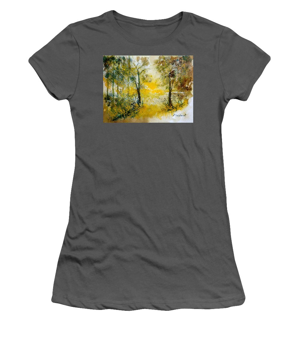 Tree Women's T-Shirt (Athletic Fit) featuring the painting Watercolor 210108 by Pol Ledent