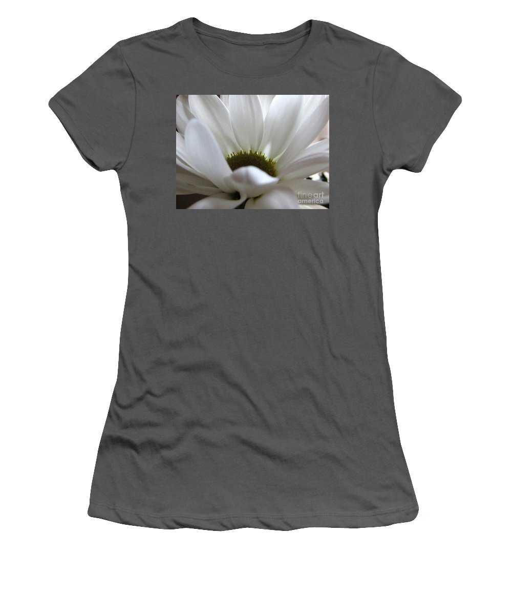 Daisy Women's T-Shirt (Athletic Fit) featuring the photograph White Beauty by Kim Tran