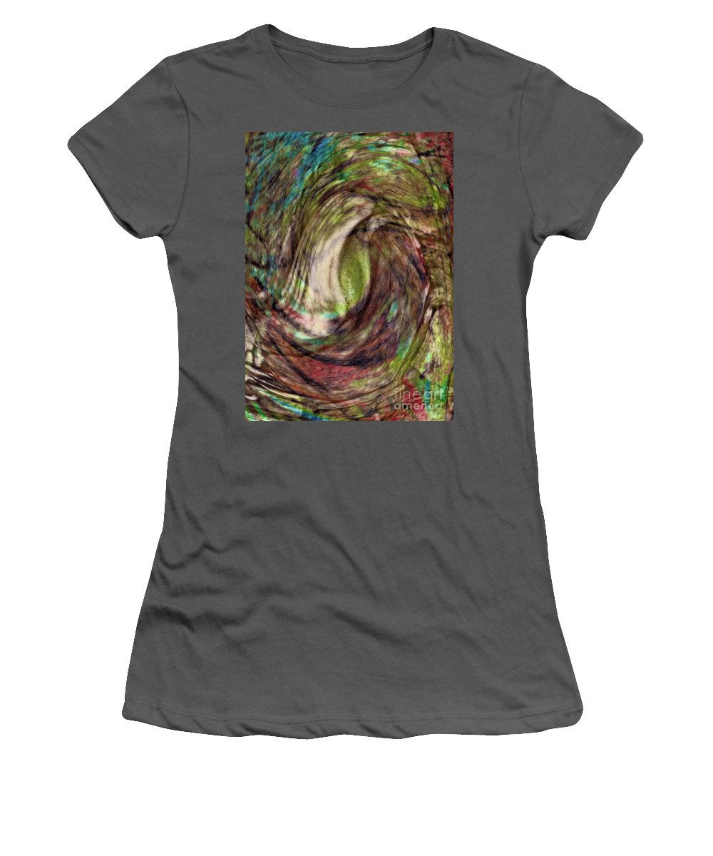 Abstract Women's T-Shirt (Athletic Fit) featuring the digital art 11-03-11 by Gwyn Newcombe
