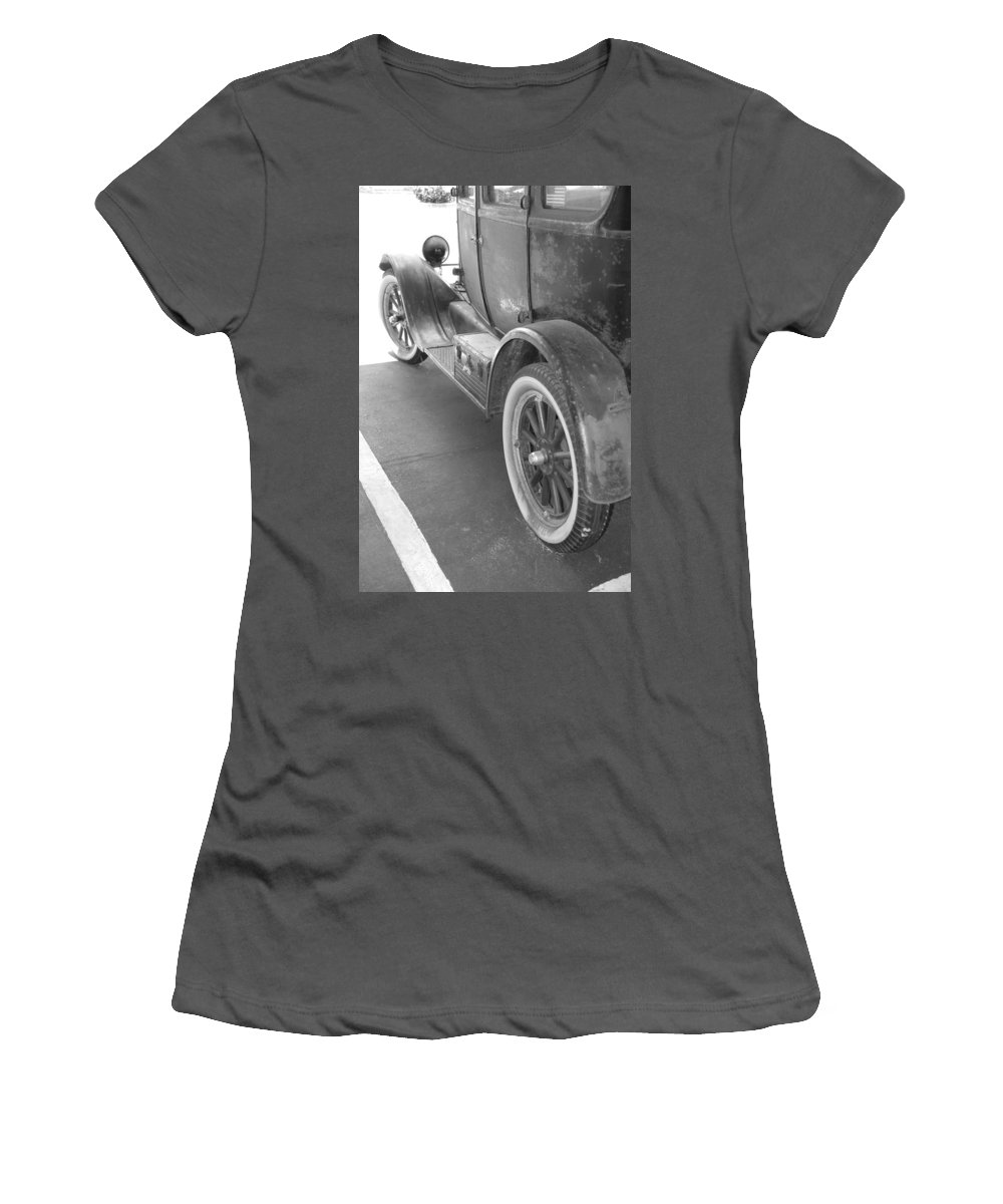 Black And White Women's T-Shirt (Athletic Fit) featuring the photograph 1926 Model T Ford by Rob Hans