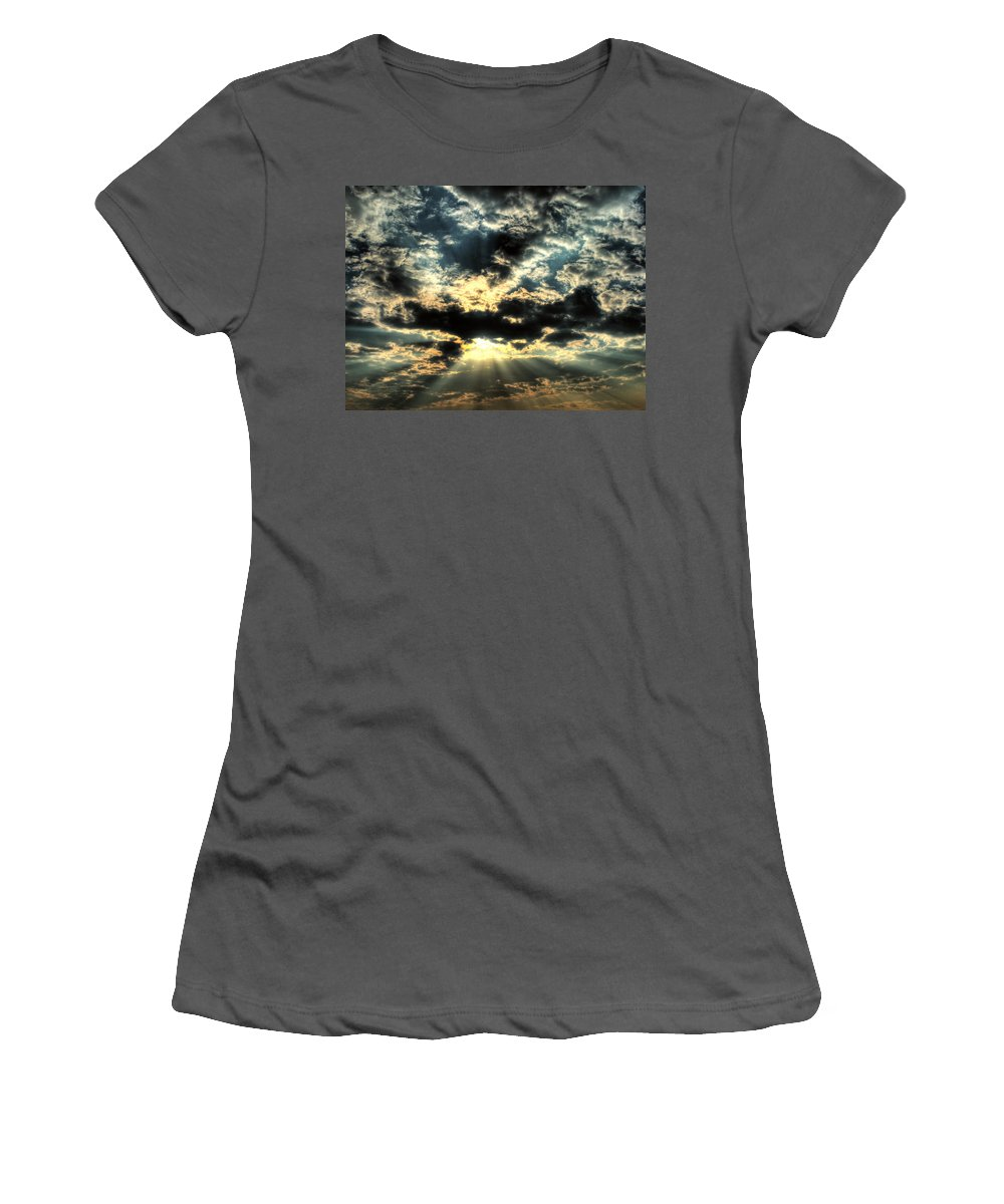 Sky Women's T-Shirt (Athletic Fit) featuring the digital art Sky by Mery Moon