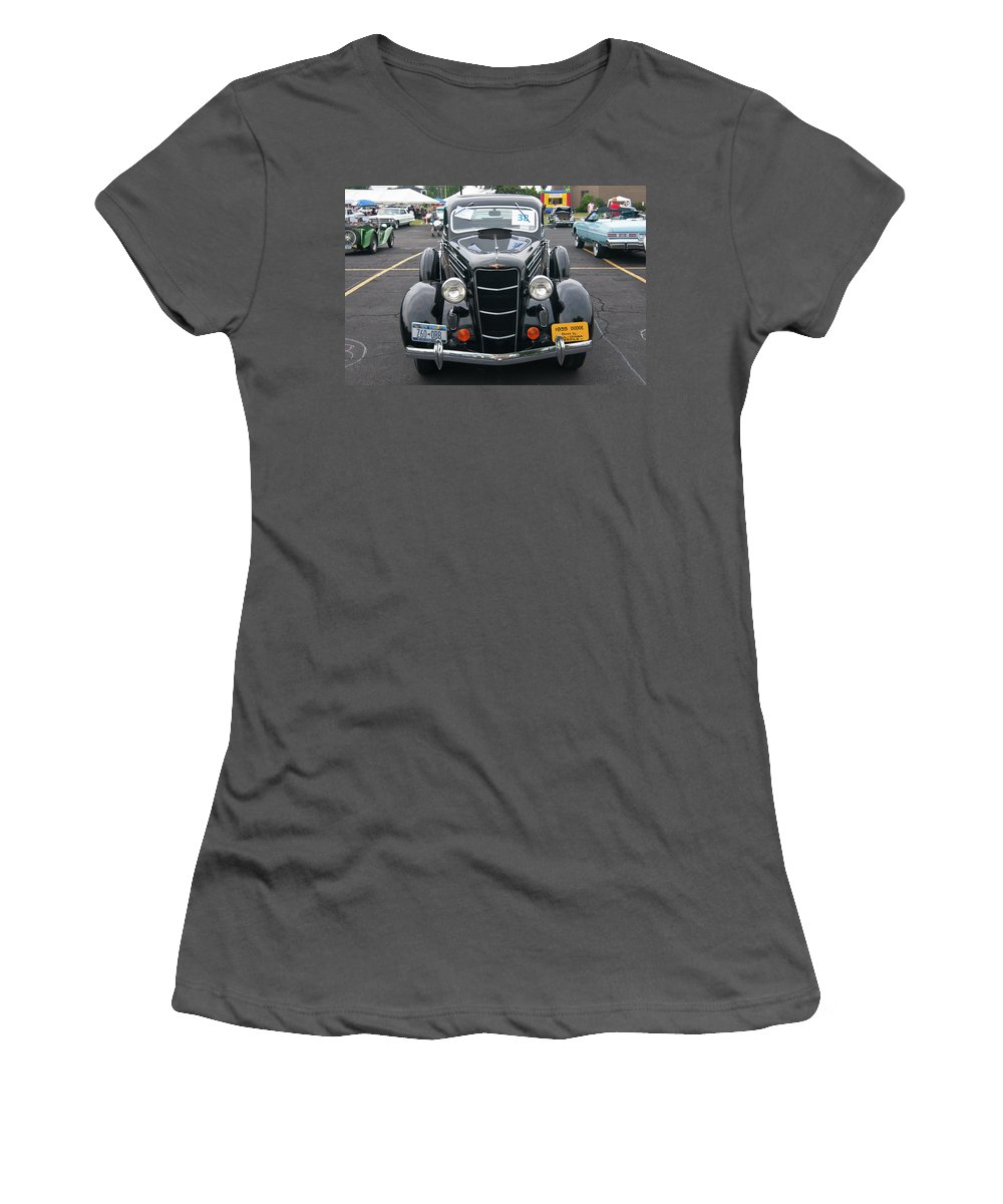 Antique Car Women's T-Shirt (Athletic Fit) featuring the photograph 1935 Dodge 2019 by Guy Whiteley