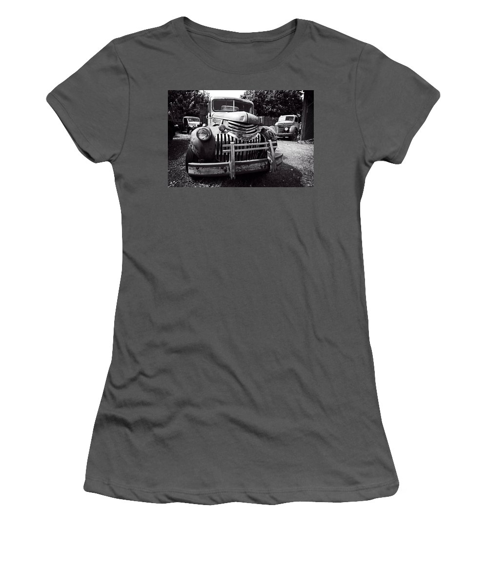 Truck Women's T-Shirt (Athletic Fit) featuring the photograph 1940's Chevrolet Truck by Daniel Hagerman