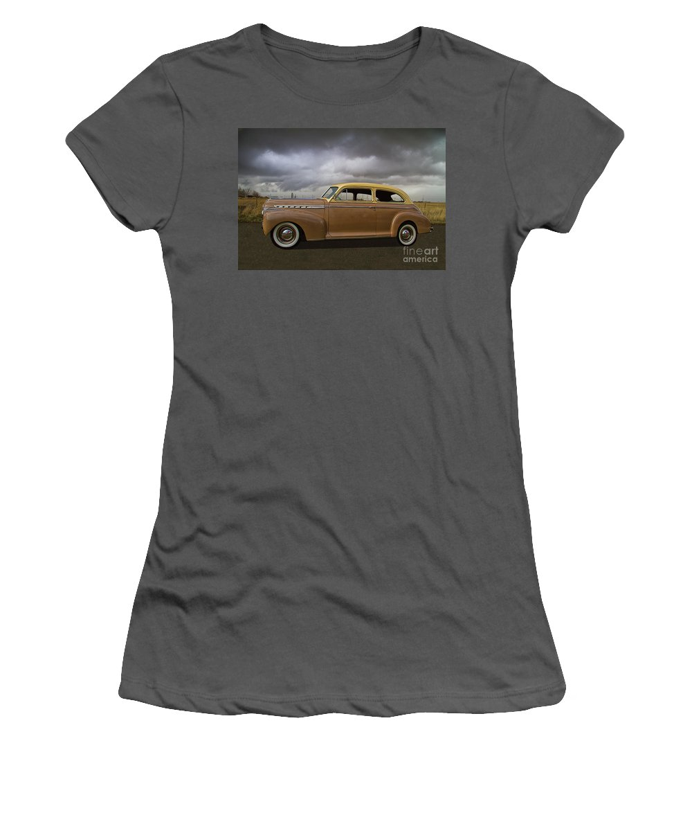1941 Women's T-Shirt (Athletic Fit) featuring the photograph 1941 Chevy Special Deluxe by Nick Gray