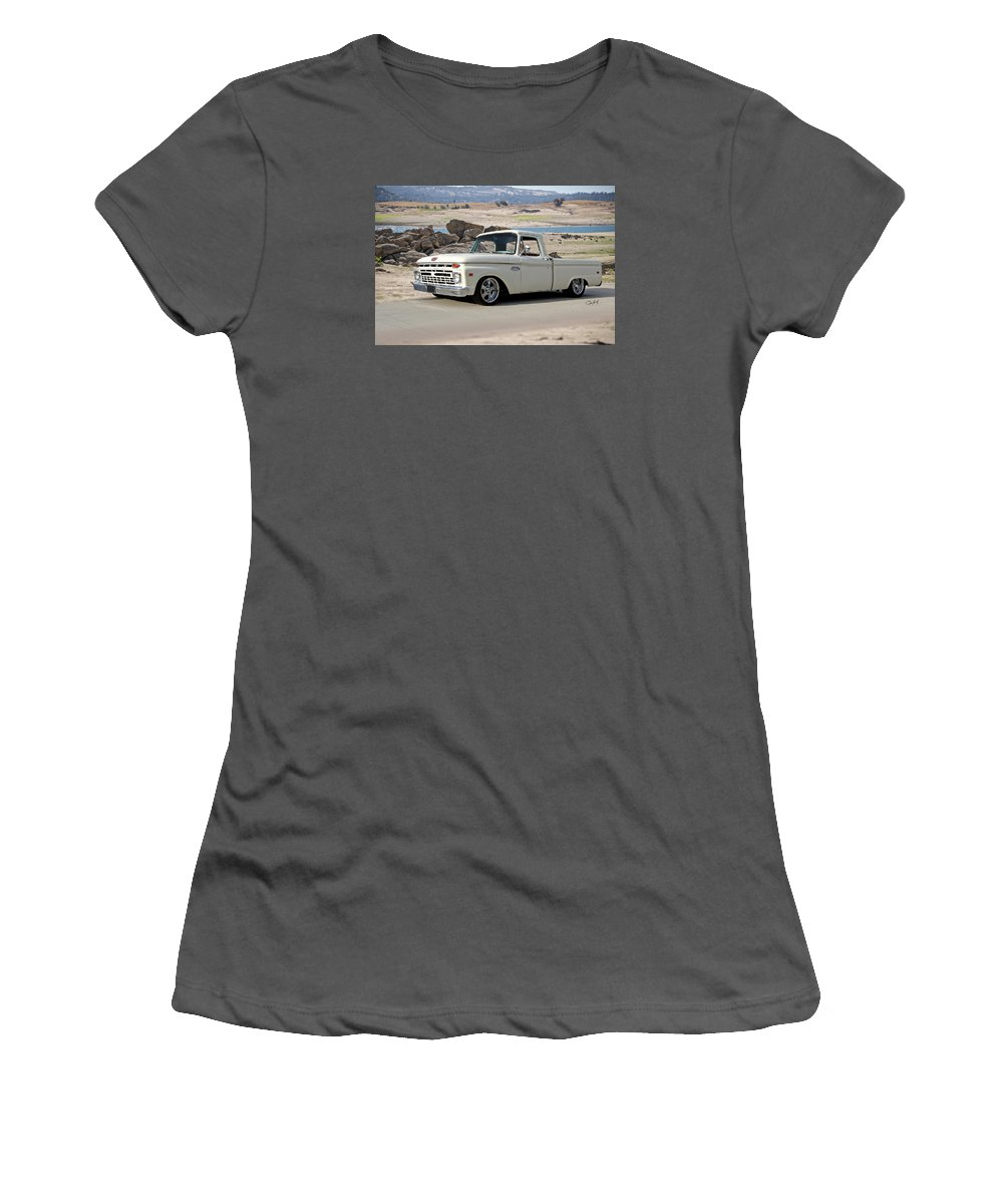Auto Women's T-Shirt (Athletic Fit) featuring the photograph 1965 Ford 'twin I Beam' Pickup by Dave Koontz