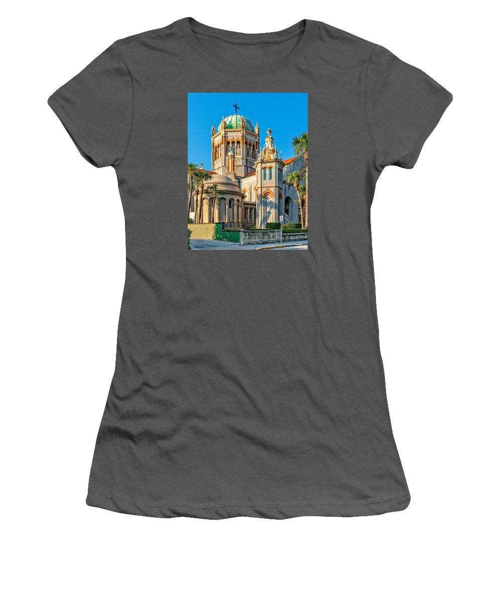 Structure Women's T-Shirt (Athletic Fit) featuring the photograph Flagler Memorial Presbyterian Church 3 by Christopher Holmes