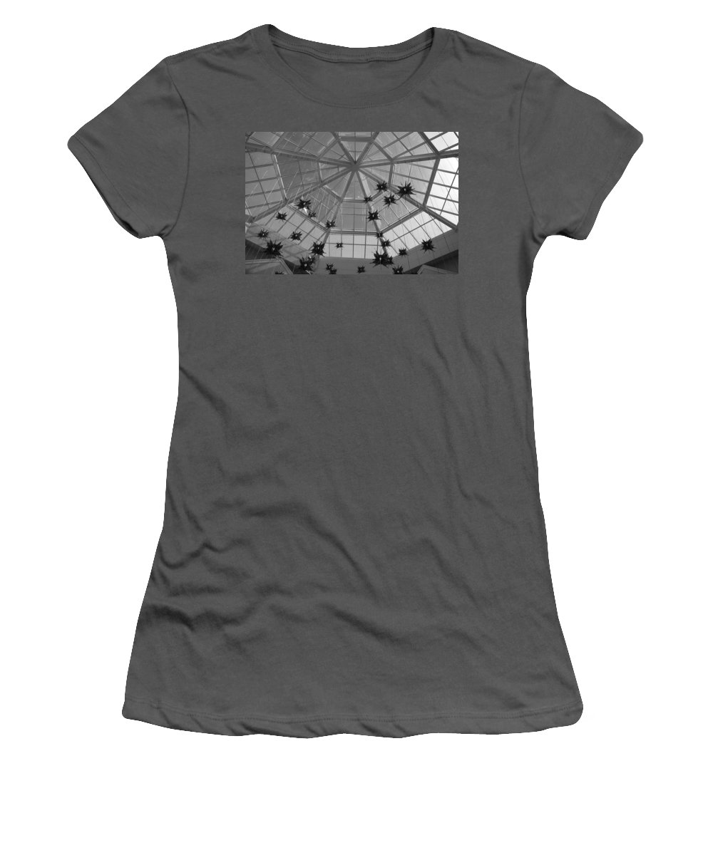 Black And White Women's T-Shirt (Athletic Fit) featuring the photograph Hanging Butterflies by Rob Hans