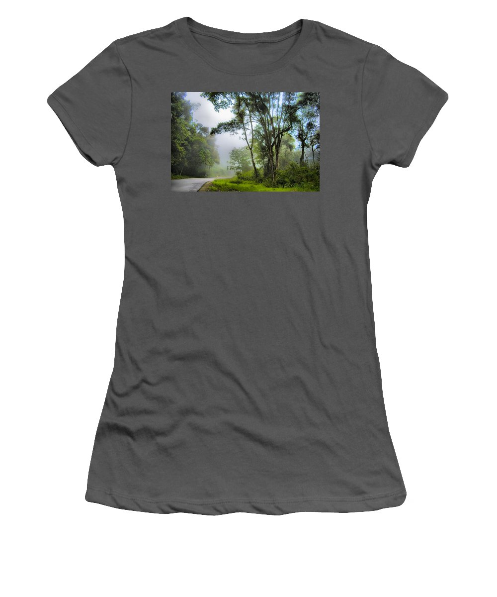 Selva Tropical Women's T-Shirt (Athletic Fit) featuring the photograph Tropical Forest by Galeria Trompiz