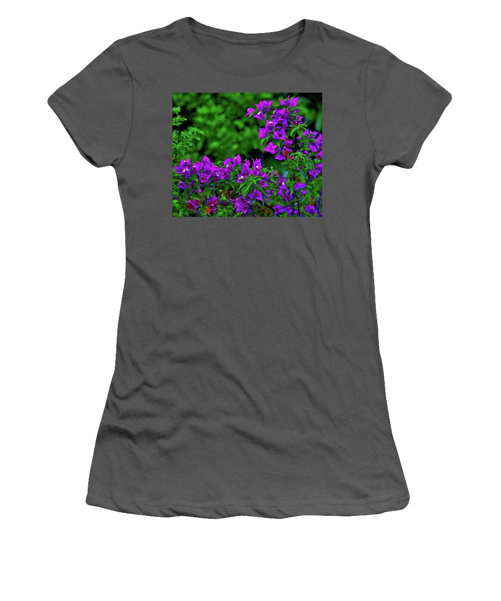Women's T-Shirt (Athletic Fit) featuring the photograph 2- Visions Of Violet by Joseph Keane