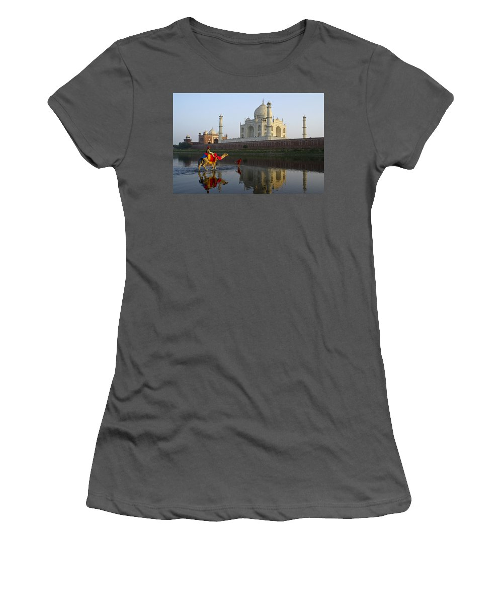Taj Mahal Women's T-Shirt (Athletic Fit) featuring the photograph India's Taj Mahal by Michele Burgess