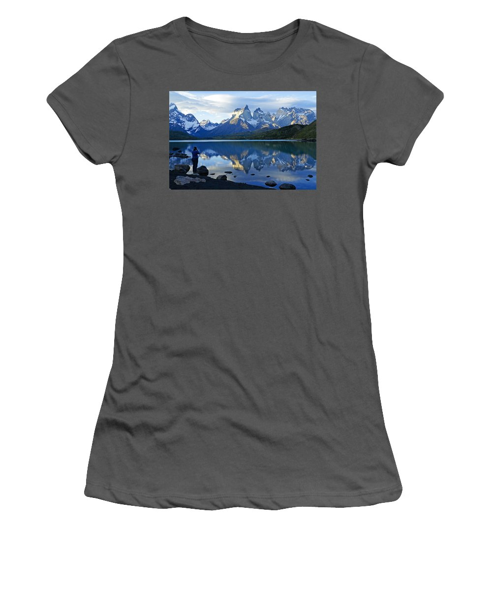 Patagonia Women's T-Shirt (Athletic Fit) featuring the photograph Patagonia Reflection by Michele Burgess