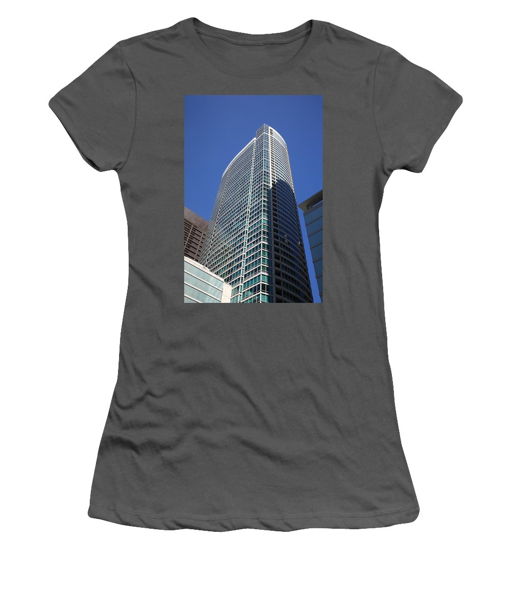America Women's T-Shirt (Athletic Fit) featuring the photograph Chicago Skyscrapers by Frank Romeo