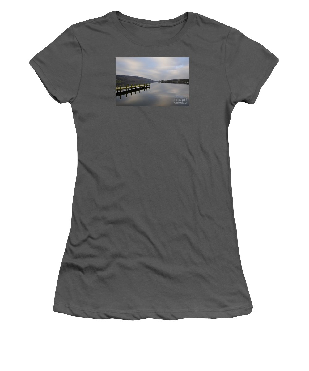 Coniston Water Women's T-Shirt (Athletic Fit) featuring the photograph Coniston Water by Smart Aviation