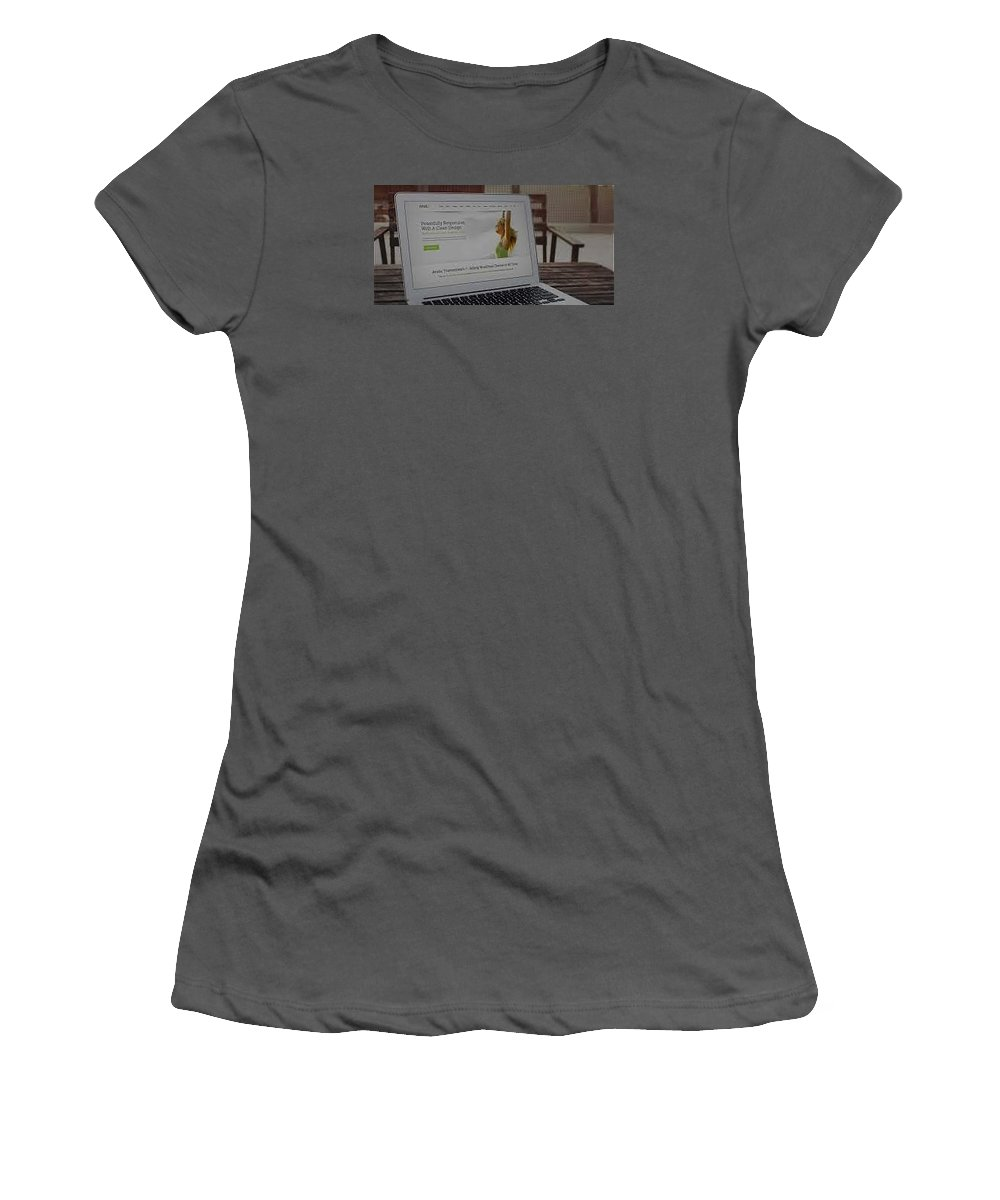 Women's T-Shirt (Athletic Fit) featuring the photograph Camping Bedding by Gear Head Junkie
