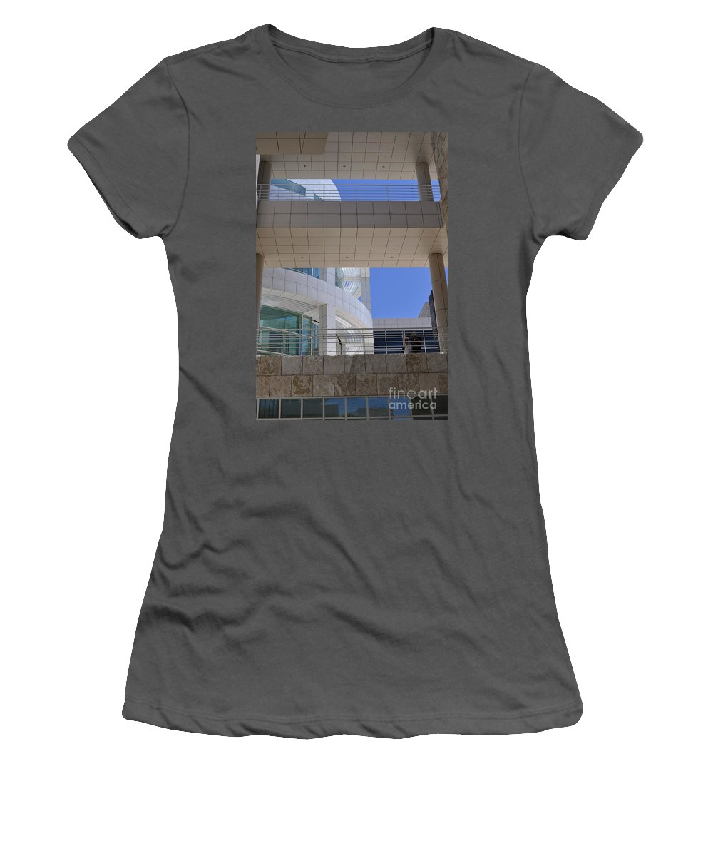 Clay Women's T-Shirt (Athletic Fit) featuring the photograph The Getty by Clayton Bruster
