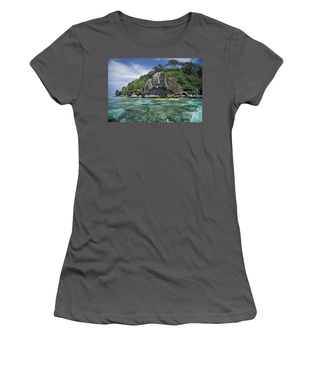 Afternoon Women's T-Shirt (Athletic Fit) featuring the photograph Fiji, Kadavu Island by Ron Dahlquist - Printscapes