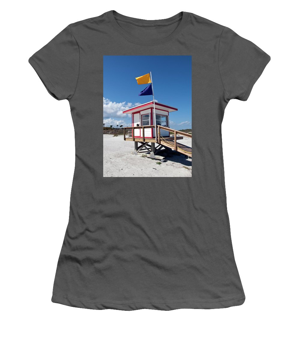Florida Women's T-Shirt (Athletic Fit) featuring the photograph Jetty Park On Cape Canaveral In Florida by Allan Hughes