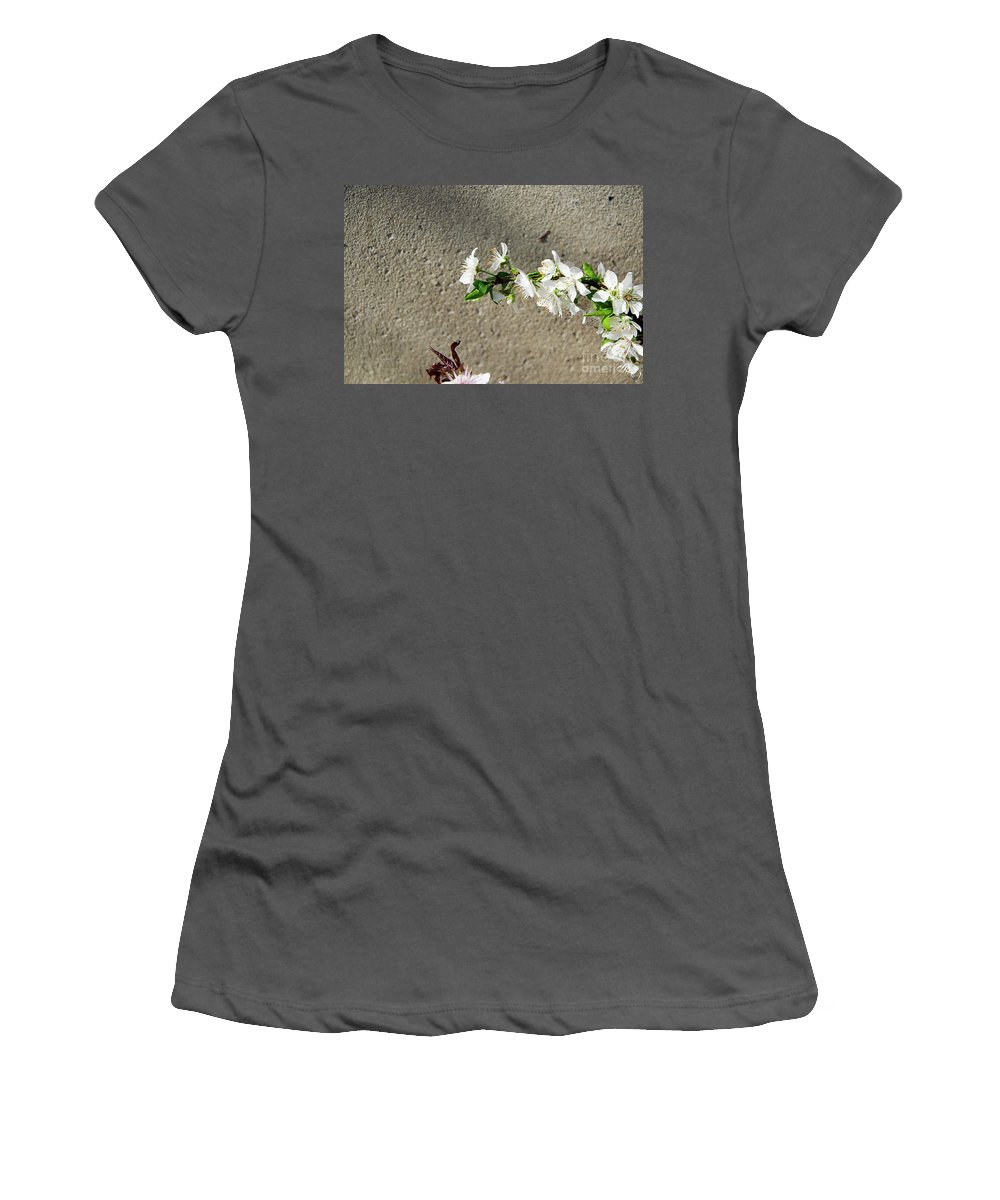Flowers Women's T-Shirt (Athletic Fit) featuring the photograph Spring Flowers by Elvira Ladocki