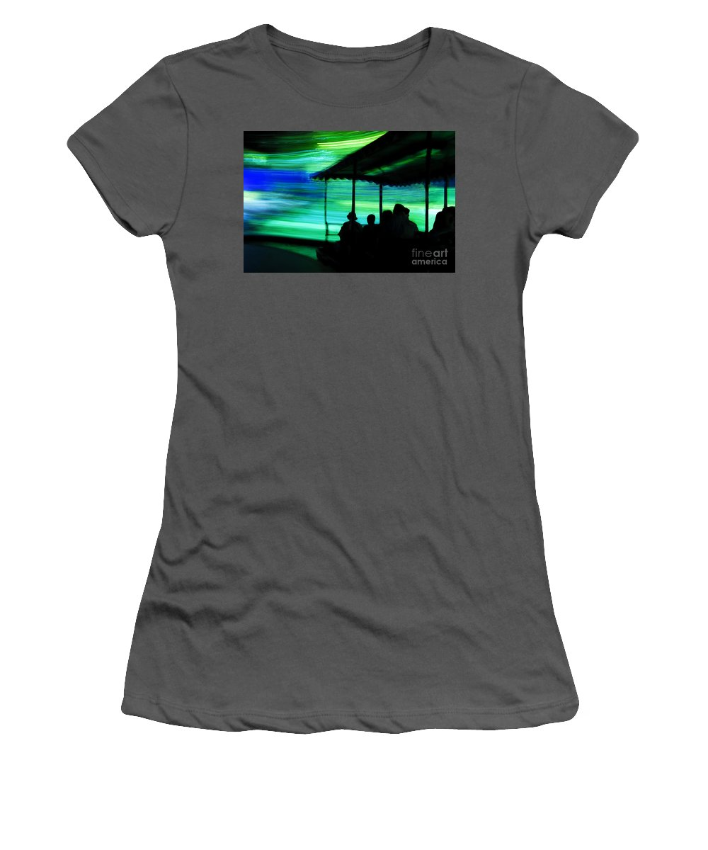 Time Travel Women's T-Shirt (Athletic Fit) featuring the photograph A Boat Ride Through Time by David Lee Thompson