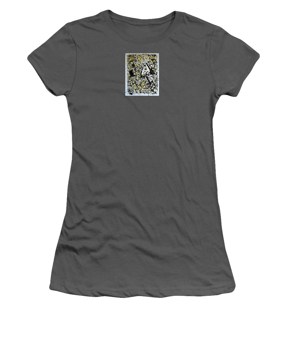 Abstract Women's T-Shirt (Athletic Fit) featuring the painting A Friendly Face by J R Seymour