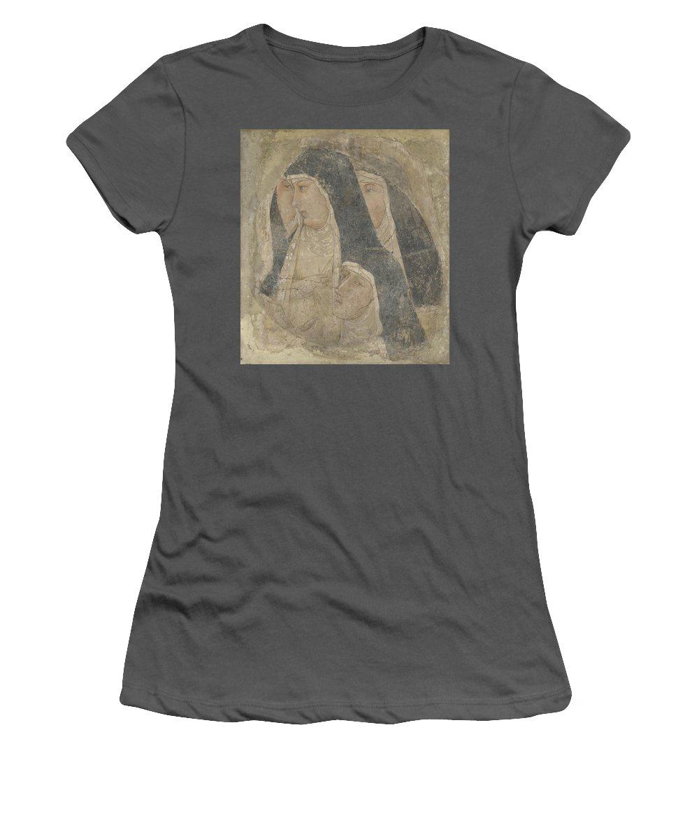 Ambrogio Women's T-Shirt (Athletic Fit) featuring the digital art A Group Of Poor Clares by PixBreak Art