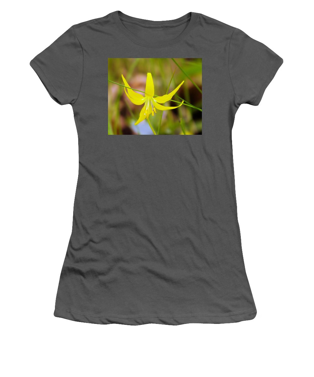 Lilies Women's T-Shirt (Athletic Fit) featuring the photograph A Lilly In Bloom by Jeff Swan