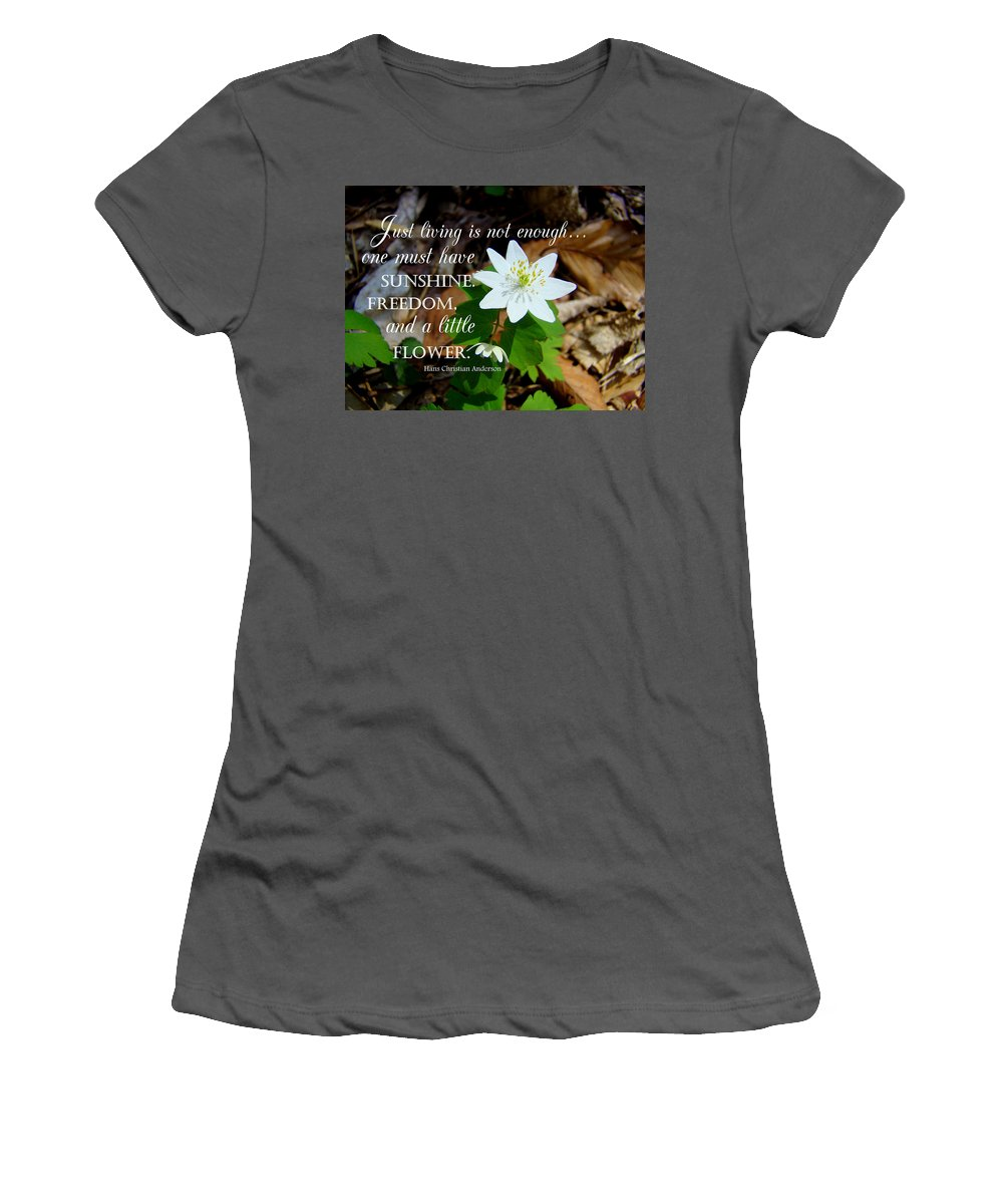Flower Women's T-Shirt (Athletic Fit) featuring the photograph A Little Flower by Christine Peileke