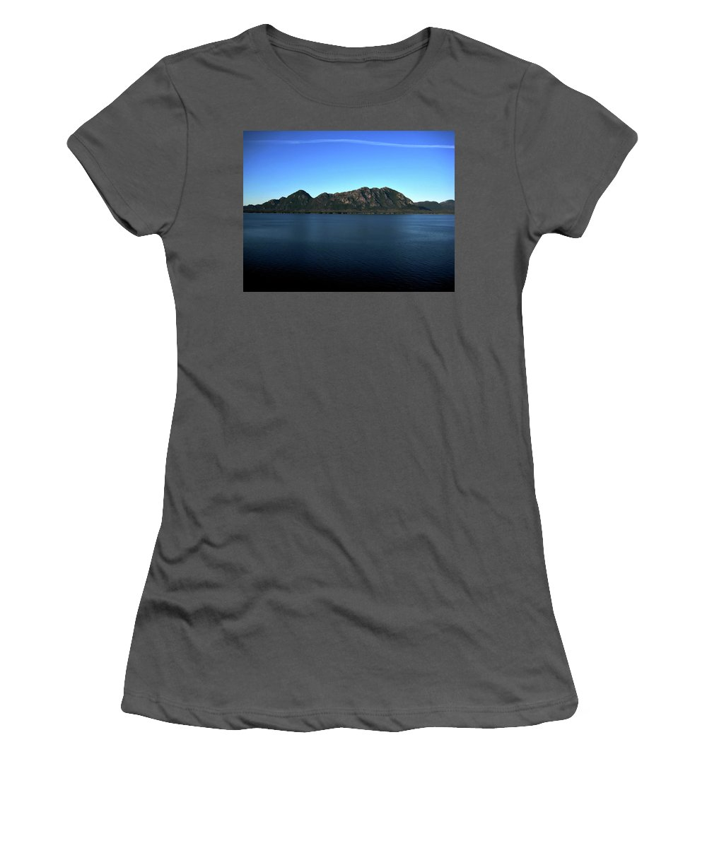 Mountain Women's T-Shirt (Athletic Fit) featuring the photograph A Mighty Mountain by Lori Tambakis